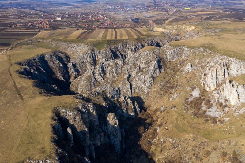 Vue aérienne d'une gorge photo libre de droits