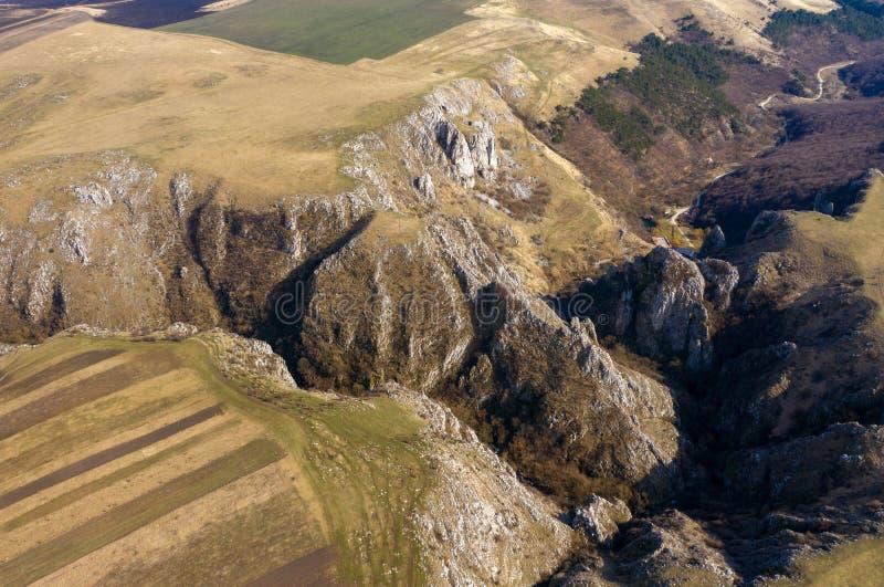 Vue aérienne d'une gorge photos libres de droits