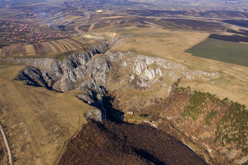 Vue aérienne d'une gorge photographie stock