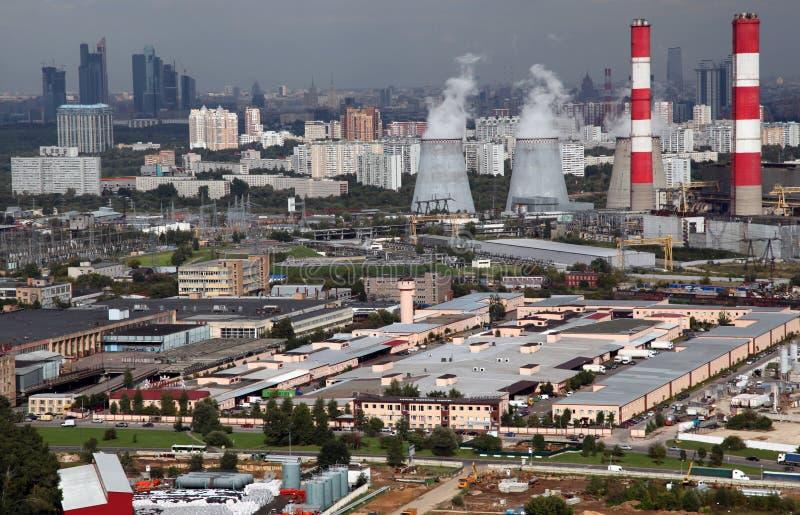 Vue aérienne d'une plus grande région de Moscou image libre de droits