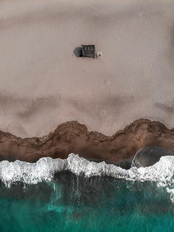 Vue aérienne d'union de La, San Juan, les Philippines images stock