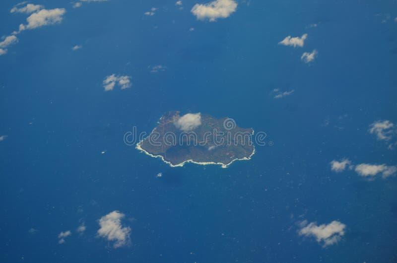 Vue aérienne d'Ustica images libres de droits