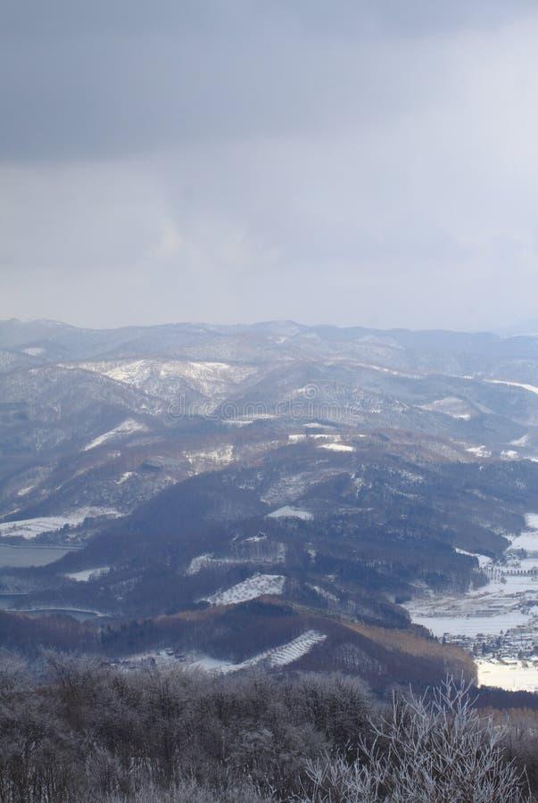 Vue aérienne de  de ShÅ wa-shinzan images stock
