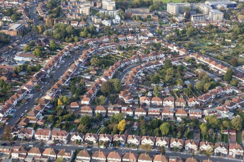 Vue aérienne de banlieue de Londres photos libres de droits