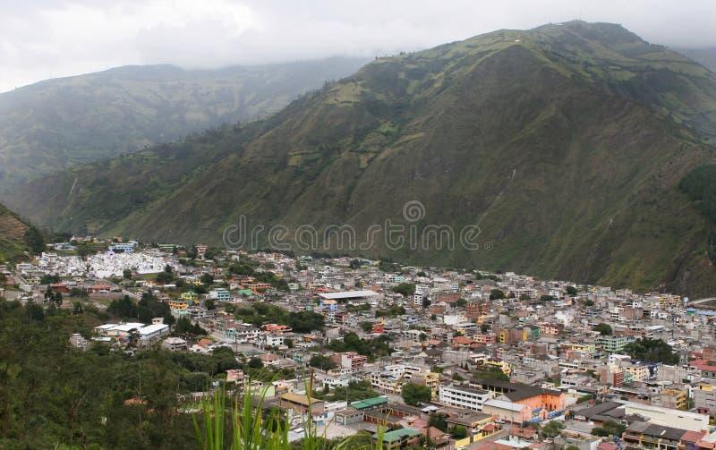 Vue aérienne de Banos, Equateur photos libres de droits