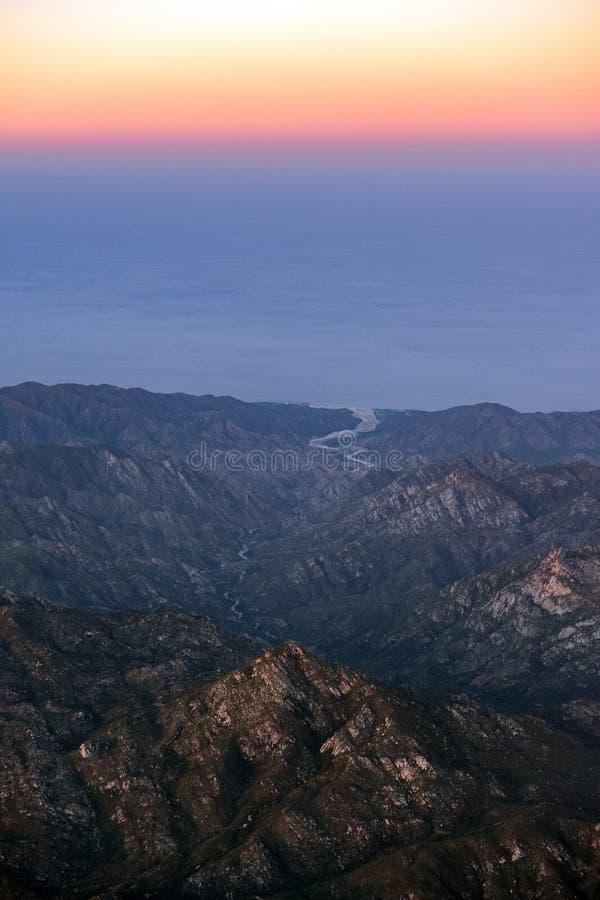 Vue aérienne de Basse-Californie Sur Mexique photographie stock