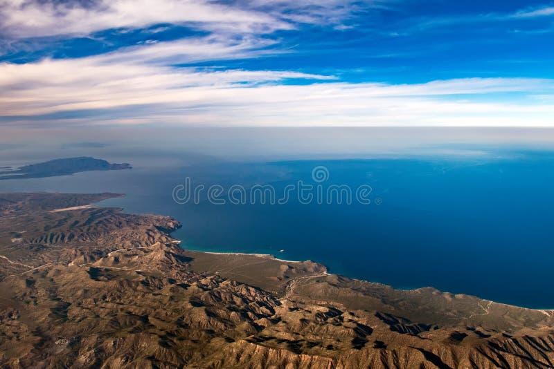 Vue aérienne de Basse-Californie Sur Mexique images stock
