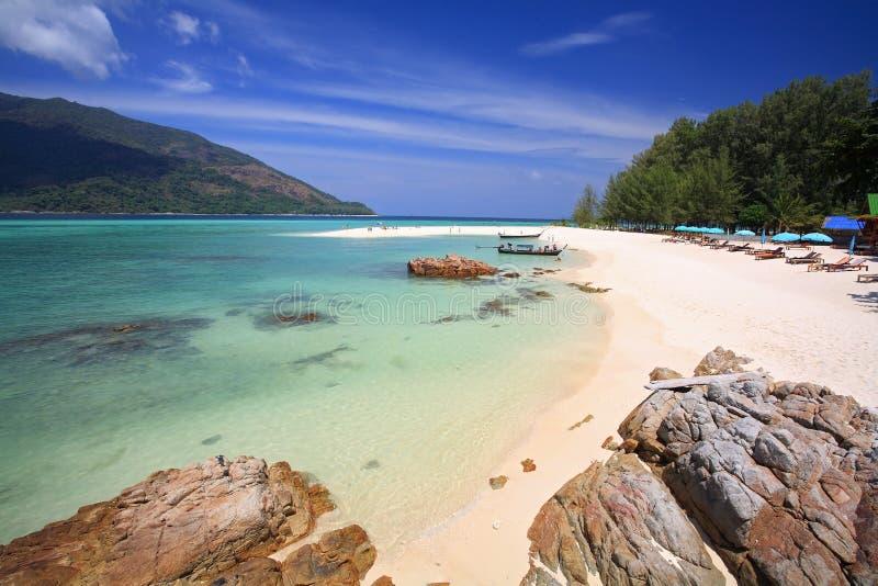 Vue aérienne de belle plage de KOH Lipe image stock