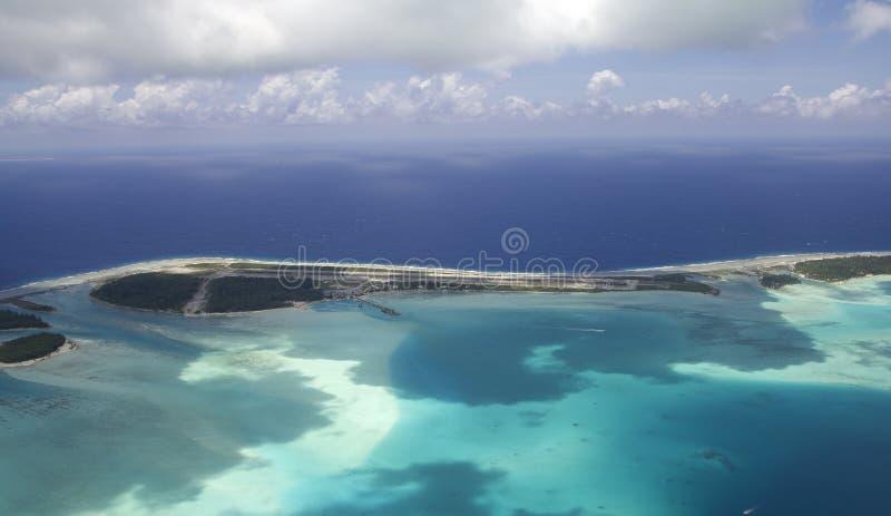Vue aérienne de bora de Bora image stock