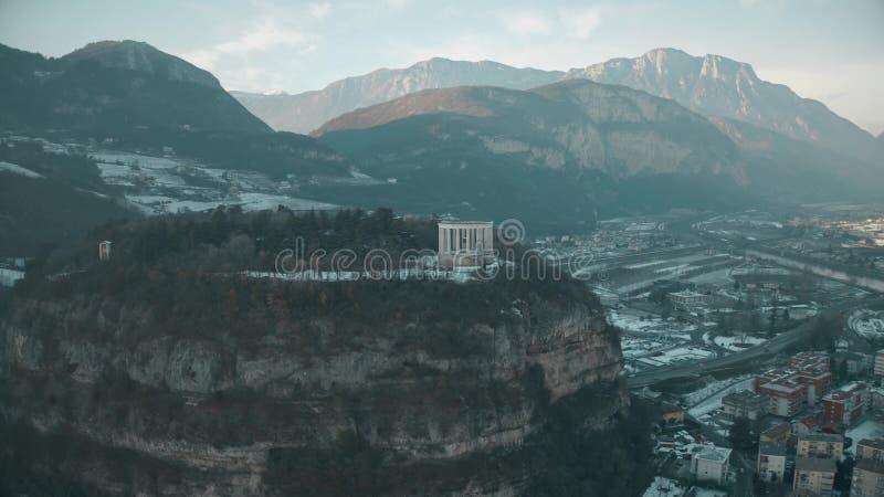 Vue aérienne de bordel Trento, un site historique important de Trento, Italie images libres de droits