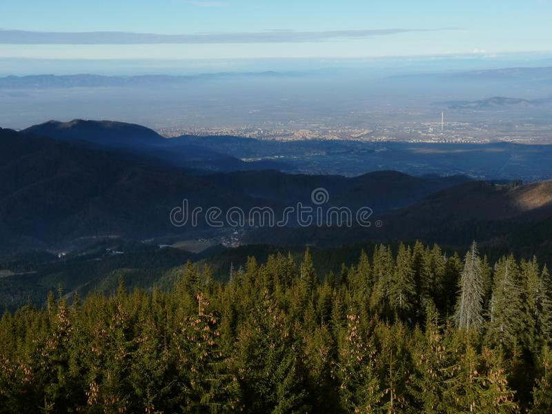 Vue aérienne de Brasov images libres de droits