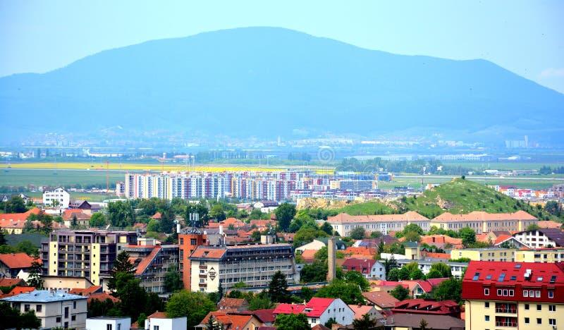 Vue aérienne de Brasov photo libre de droits