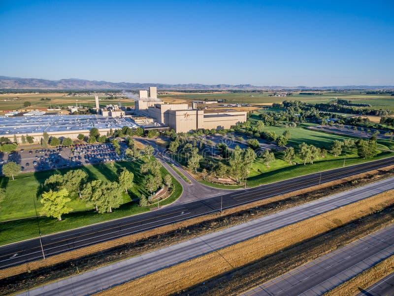 Vue aérienne de brasserie d'Anheuser-Bush photographie stock