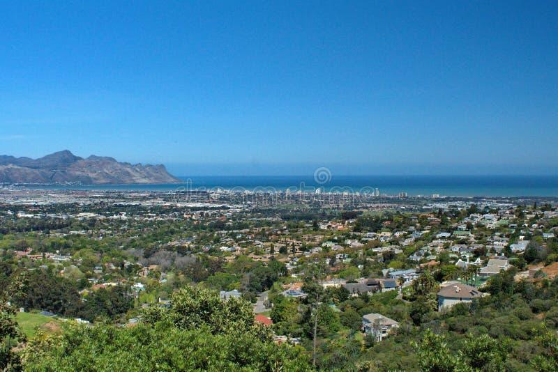 Vue aérienne de brin, Afrique du Sud image stock