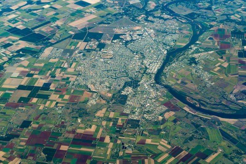 Vue aérienne de Bundaberg, Australie photographie stock libre de droits