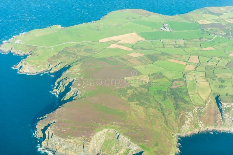 Vue aérienne de campagne anglaise image libre de droits