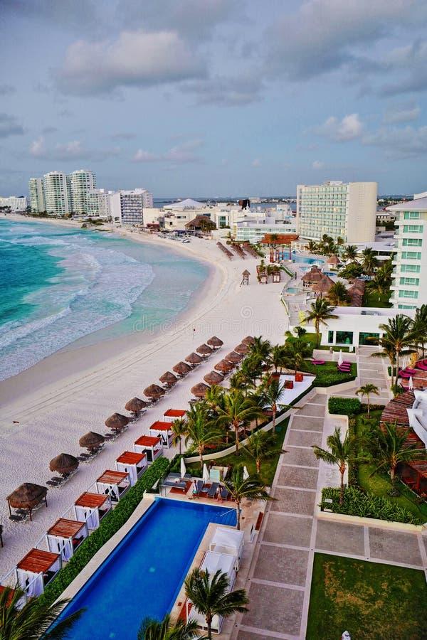 Vue aérienne de Cancun, Mexique images libres de droits