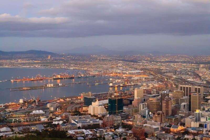 Vue aérienne de Cape Town de colline de signal, Afrique du Sud images libres de droits