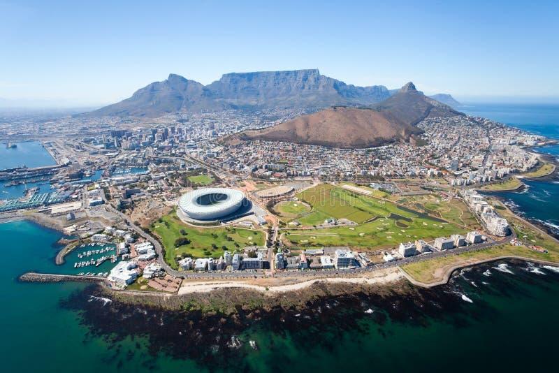 Vue aérienne de Capetown images libres de droits