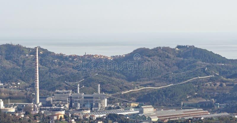 vue aérienne de centrale électrique image stock