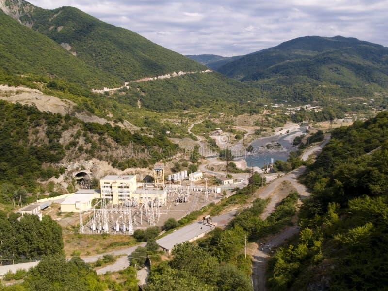 vue aérienne de centrale électrique photographie stock libre de droits