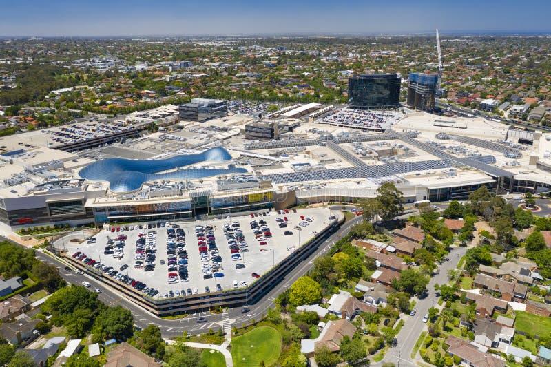 Vue aérienne de centre commercial de Chadstone photos stock
