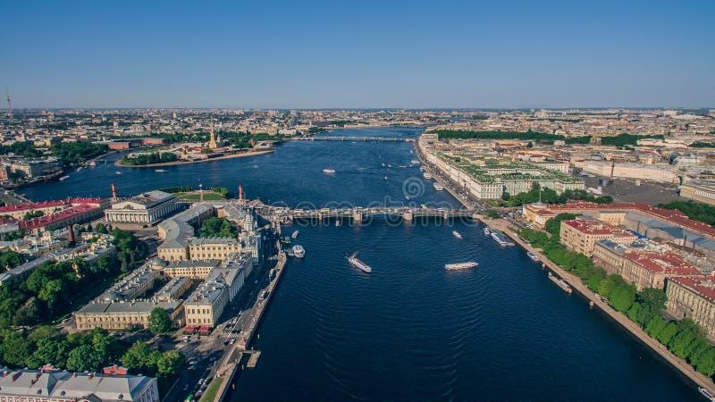 Vue aérienne de centre de la ville à St Petersburg image libre de droits