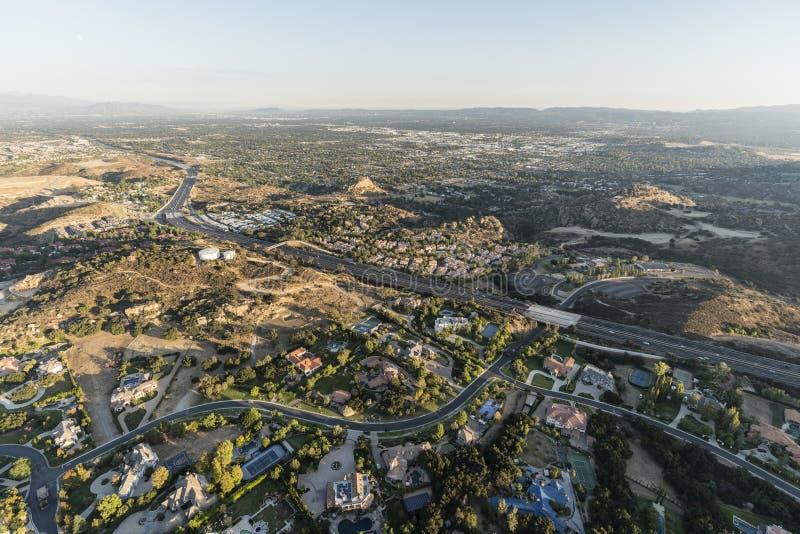 Vue aérienne de Chatsworth la Californie photographie stock