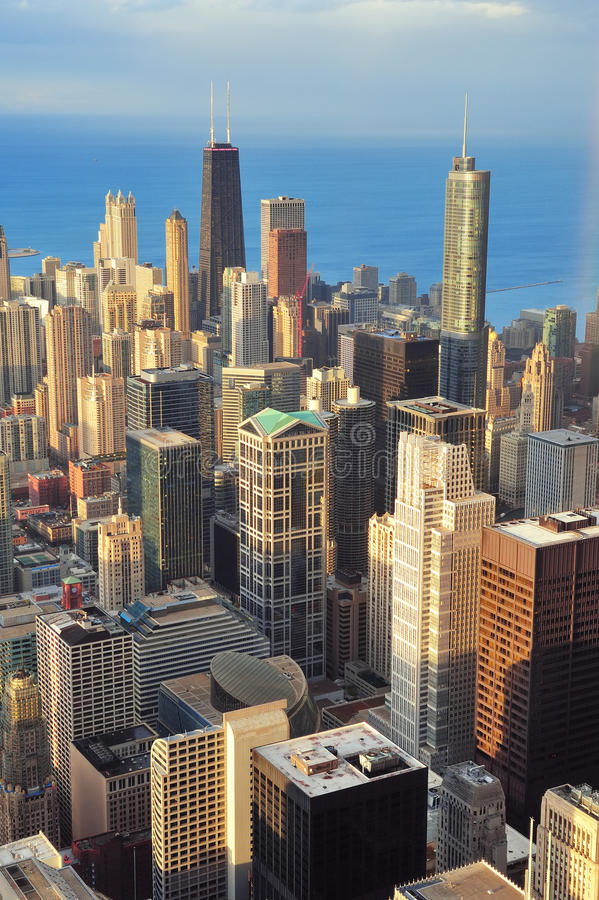 Vue aérienne de Chicago photographie stock