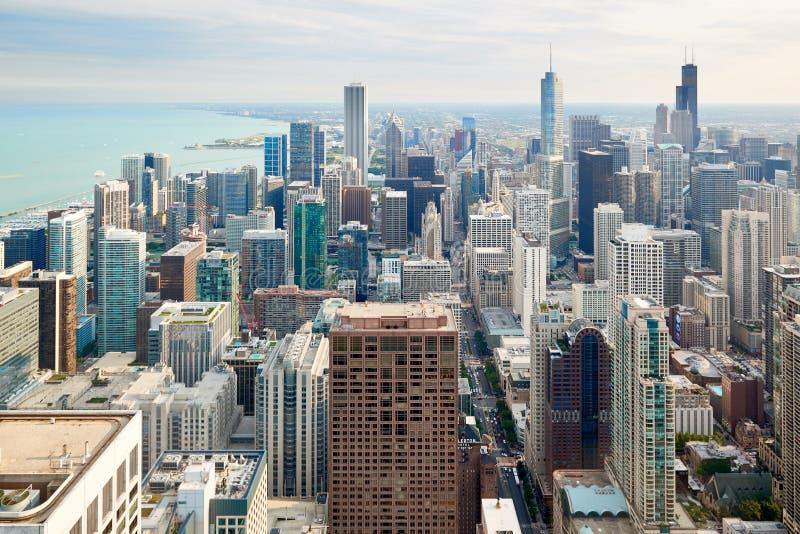 Vue aérienne de Chicago du centre photographie stock