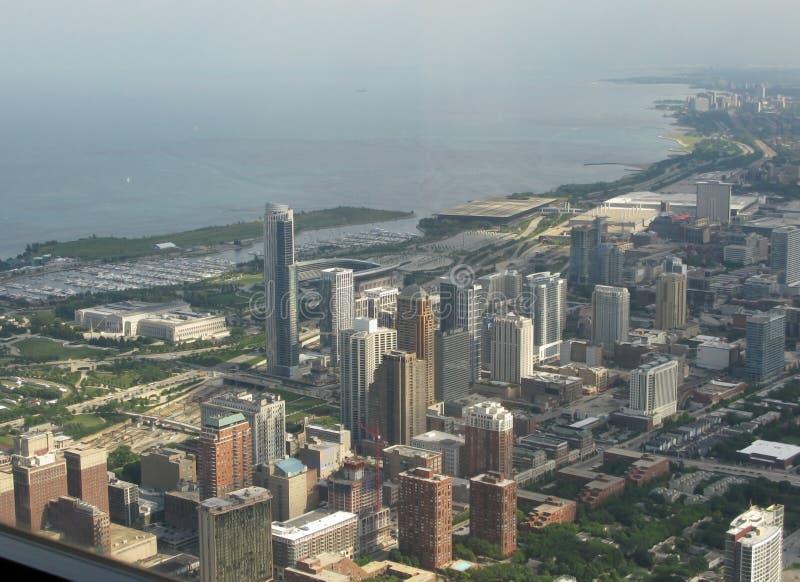 Vue aérienne de Chicago du sud photos libres de droits