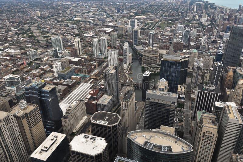 vue aérienne de Chicago l'Illinois image libre de droits