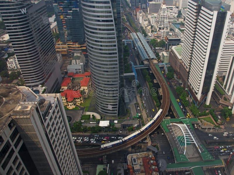 vue aérienne de Chong Nonsi Skywalk photos libres de droits