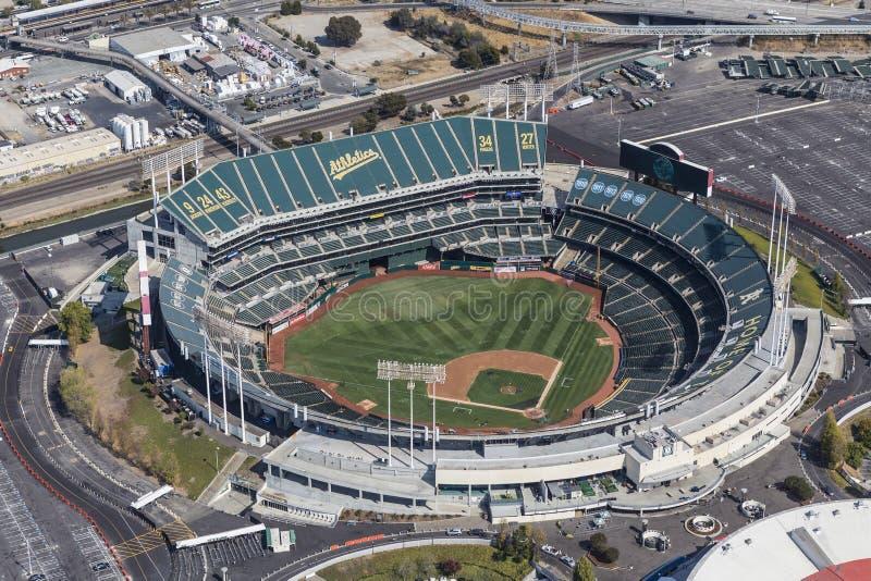 Vue aérienne de Colisé d'Oakland images stock