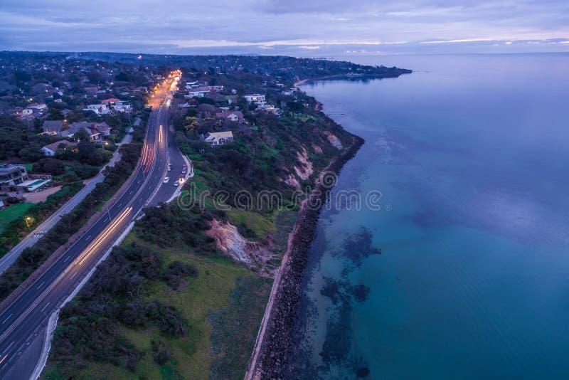Vue aérienne de colline d'Olivers au crépuscule photo libre de droits