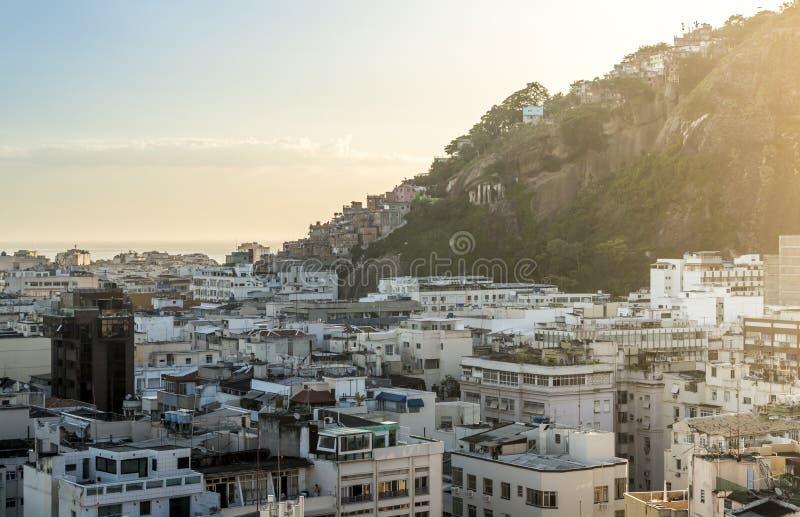 Vue aérienne de Copacabana, Rio de Janeiro, Brésil photographie stock libre de droits