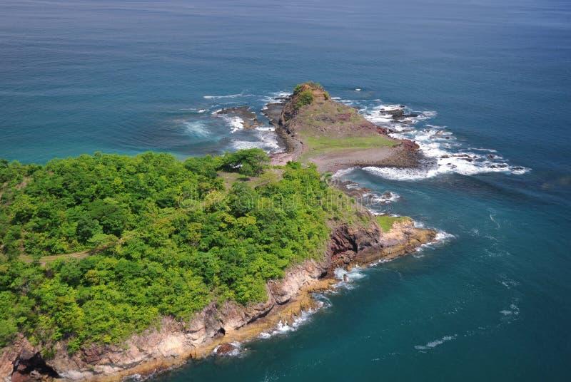Vue aérienne de Costa Rica occidental photographie stock libre de droits