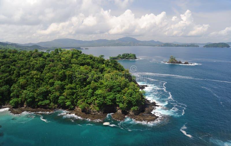 Vue aérienne de Costa Rica occidental image stock