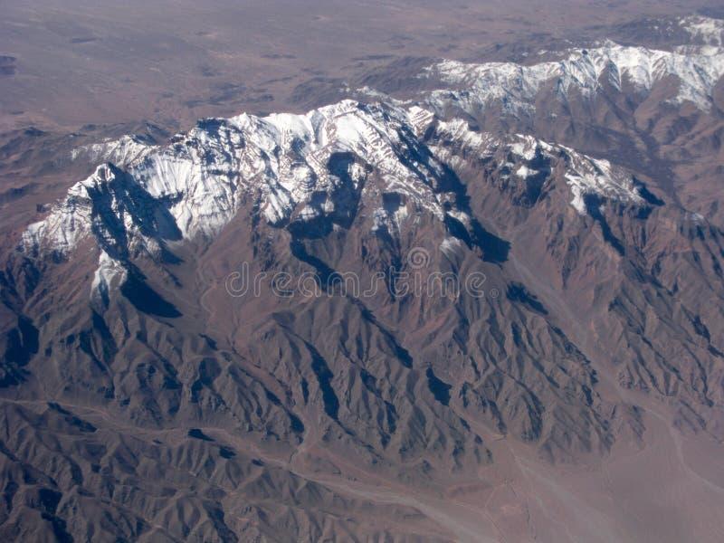 Vue aérienne de crêtes de montagne photo stock