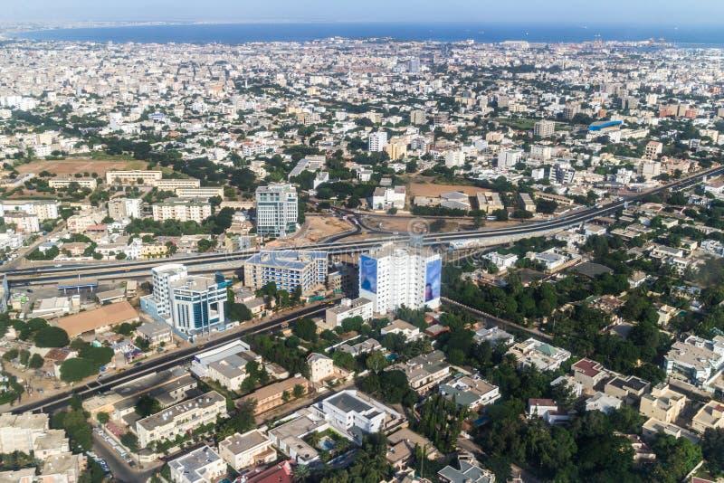 Vue aérienne de Dakar photo stock