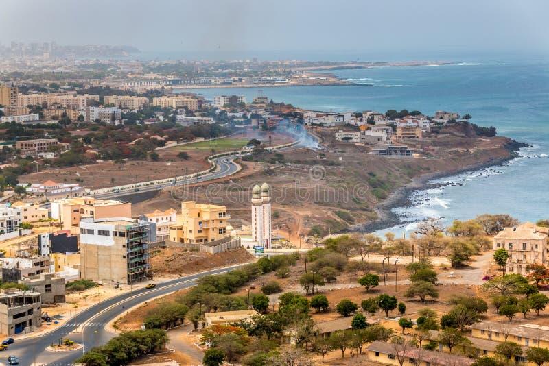 Vue aérienne de Dakar photographie stock
