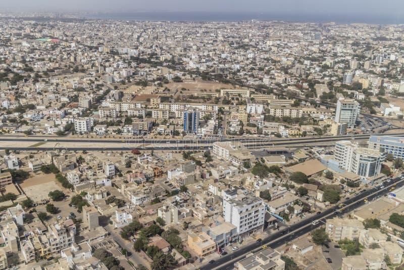 Vue aérienne de Dakar photo libre de droits