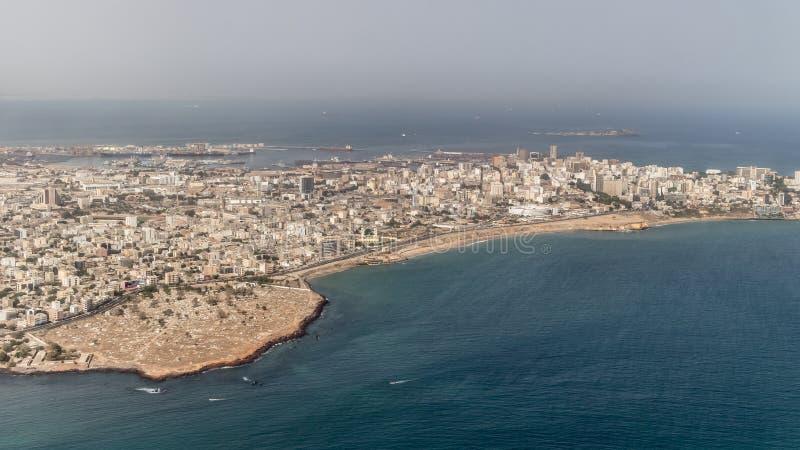 Vue aérienne de Dakar photos stock