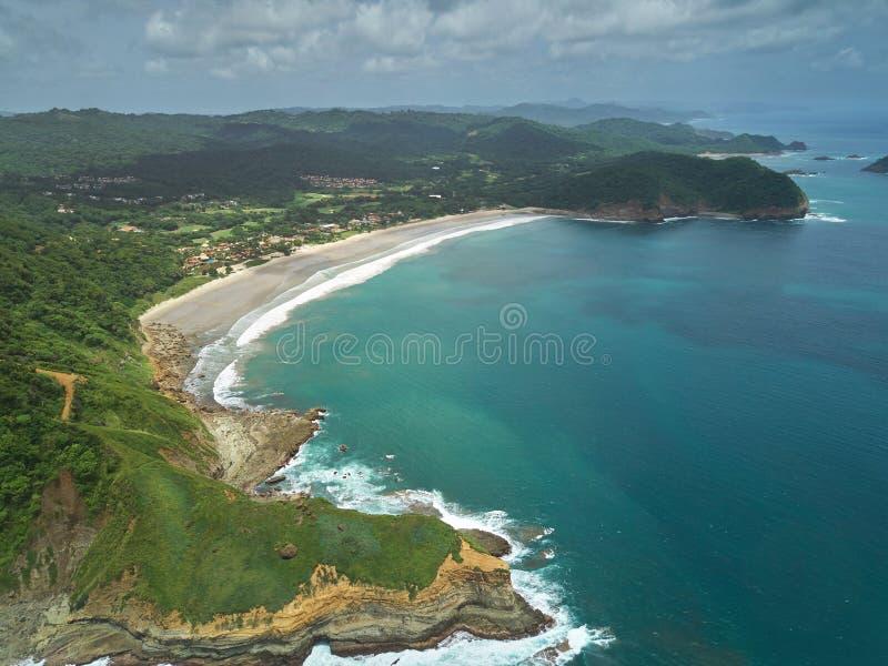 Vue aérienne de destination de voyage du Nicaragua images stock