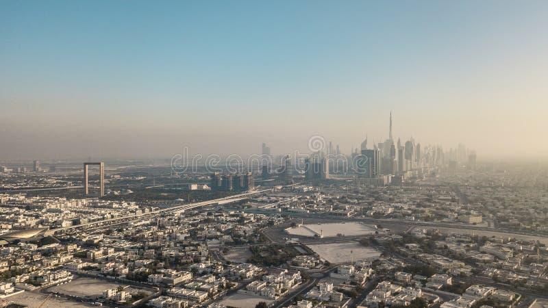 Vue aérienne de Dubaï image libre de droits