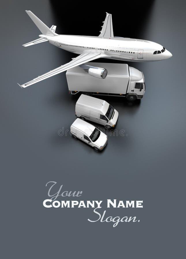 Vue aérienne de flotte de transport illustration stock
