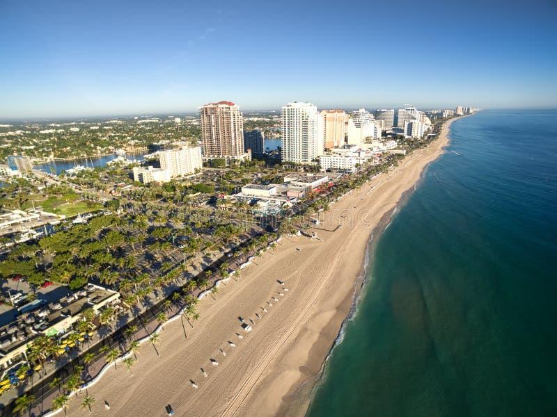 Vue aérienne de Fort Lauderdale photos libres de droits