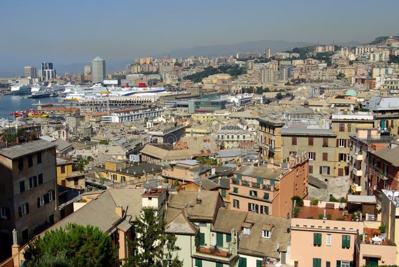Vue aérienne de Gênes, Italie photographie stock