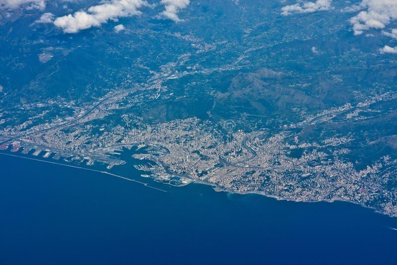 Vue aérienne de Gênes, Italie photos stock