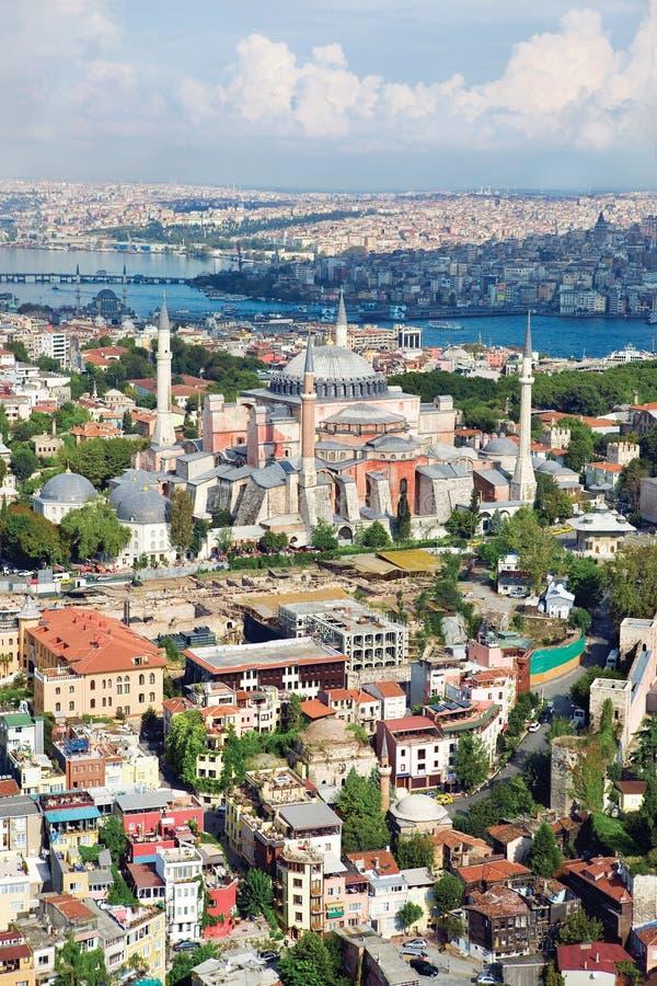 Vue aérienne de Hagia Sophia Istanbul Turkey photographie stock libre de droits